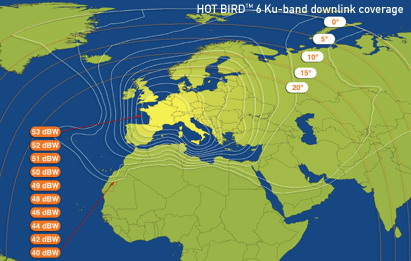 Frocus  :  Satellite  :  Transponders  :  Eutelsat Hot Bird